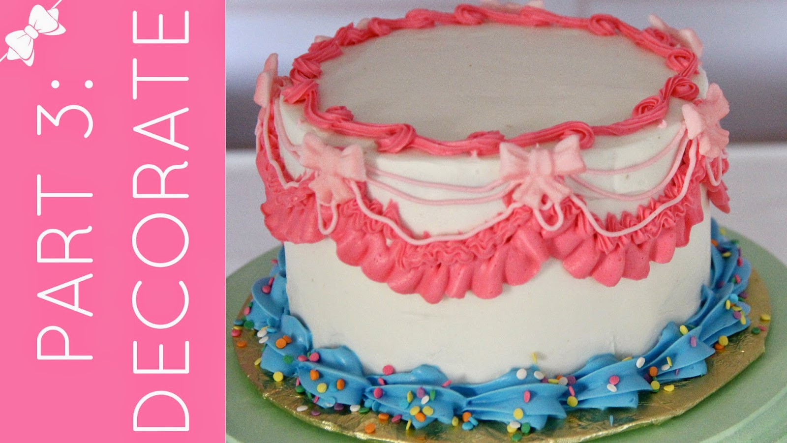 Video cake decorating 101 part 1 how to level tort for Decoration layer cake
