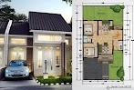 Hitung-Hitung Biaya Membangun Rumah Tipe-54 Dengan 2 Kamar Tidur Dan Taman Plus Denah