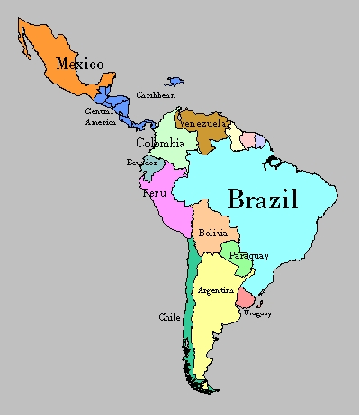 obryadii00 physical map of south america and central america