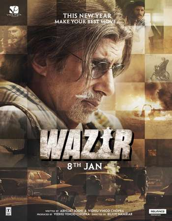 Poster Of Wazir 2016 Hindi 720p BRRip ESubs Free Download Watch Online