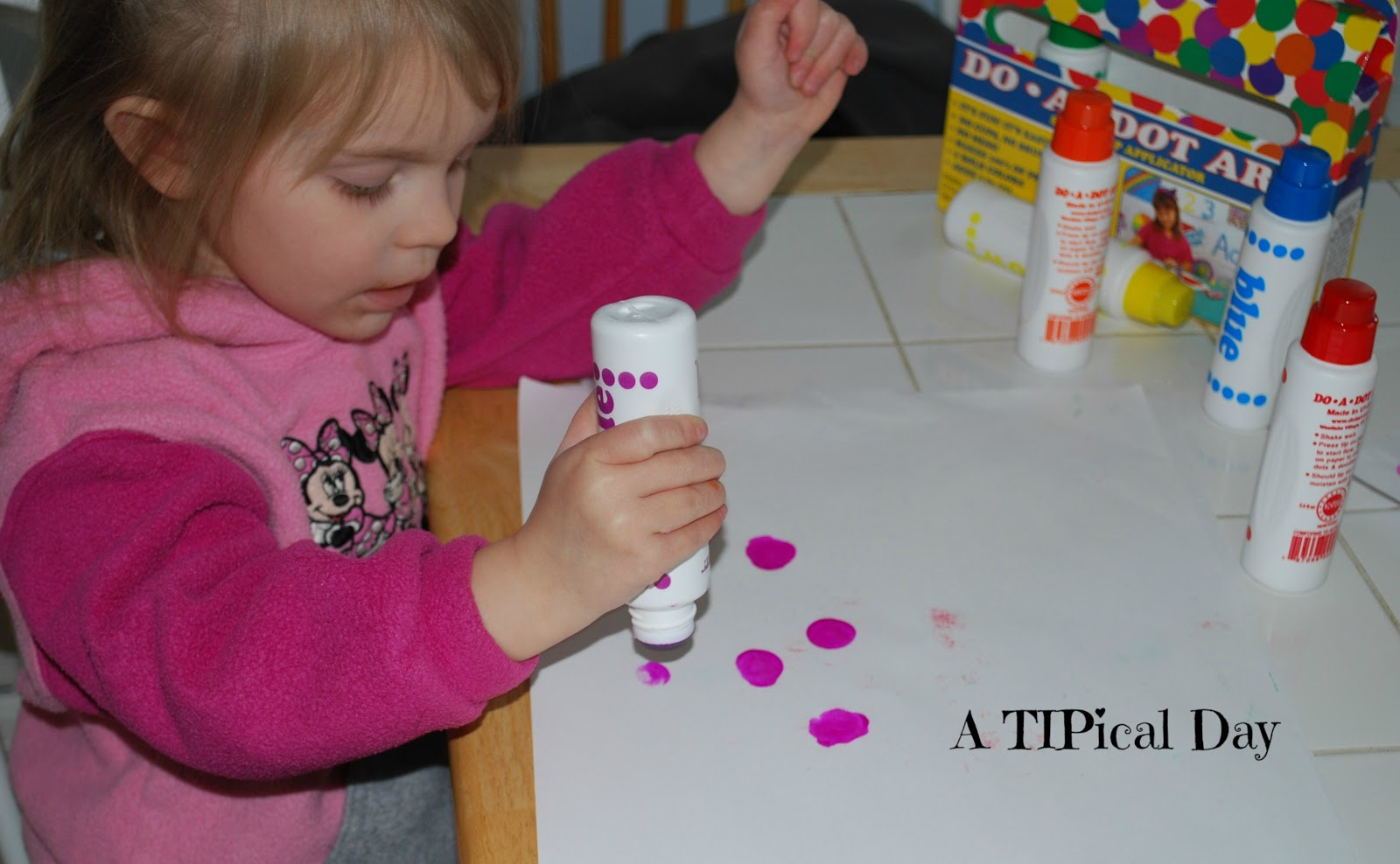 Do A Dot Preschool Art A Tipical Day