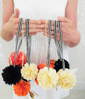 DIY paper flower pomander balls, easy paper flowers, wedding decor DIY