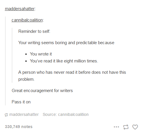 Your writing seems boring and predictable because...