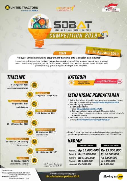 [Gratis] Sobat Competition 2019 di PT United Tractors Tbk