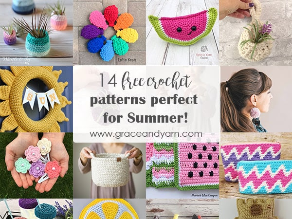 14 Free Crochet Patterns Perfect For Summer