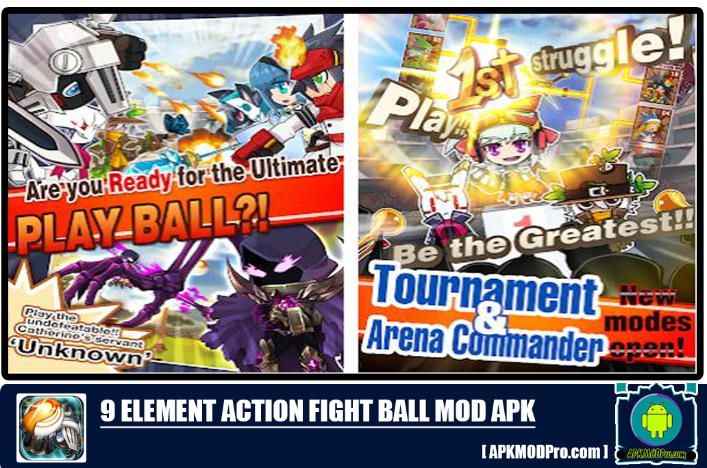 Download 9 Elements Action Fight Ball v.1.23 MOD APK [Unlimited Money/Gold/Diamond]