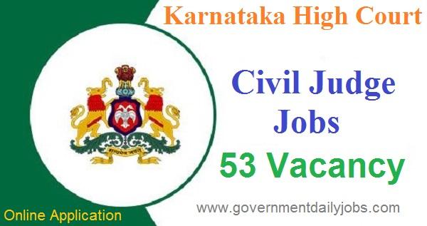 Karnataka High Court Civil Judge Online Application