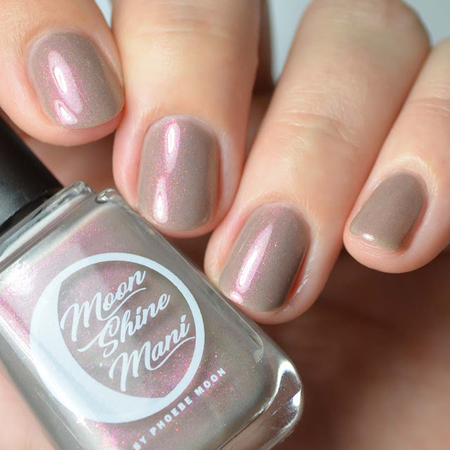 greige creme nail polish with color shifting shimmer