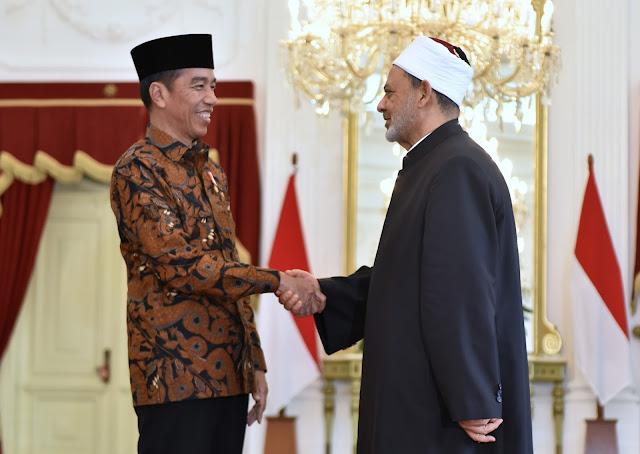 Terima Syekh Al-Azhar, Presiden Jokowi Bahas Kerja Sama Syiarkan 'Wasathiyah Islam'