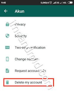 Proses mengeluarkan akun whatsapp