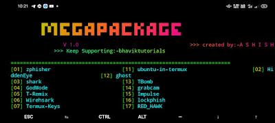 Termux-Megapackage   Top 20 Tools of Termux