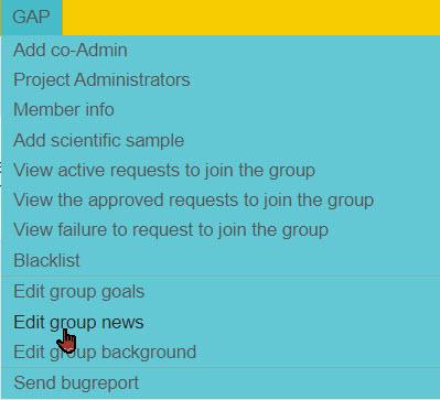 YFull group administrator menu
