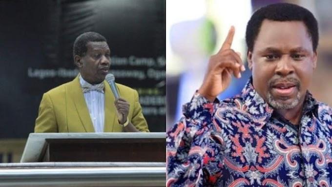 """We Shall Meet Again"" – Pastor Adeboye Pens SCOAN, Says T.B Joshua Is With Jesus"