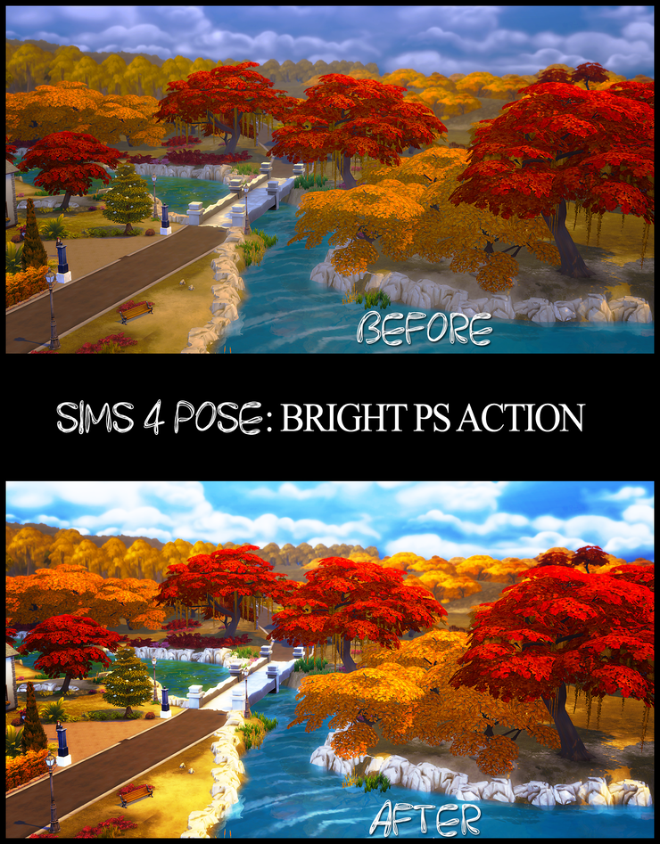 Download Sims 4 Pose: Sims 4 Photoshop Action: Bright {PS