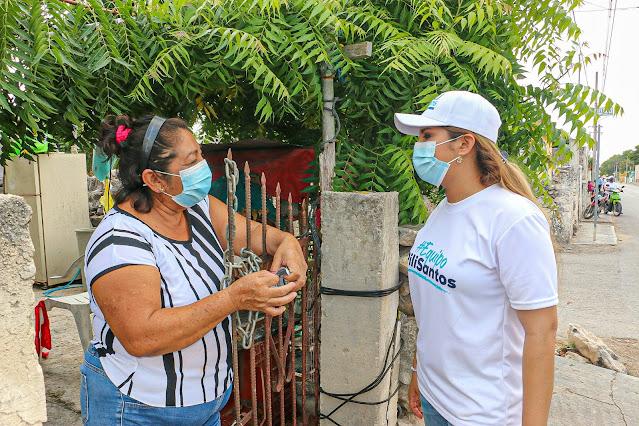 Llamado de Pili Santos a construir juntos mejores oportunidades de desarrollo en el Distrito XV
