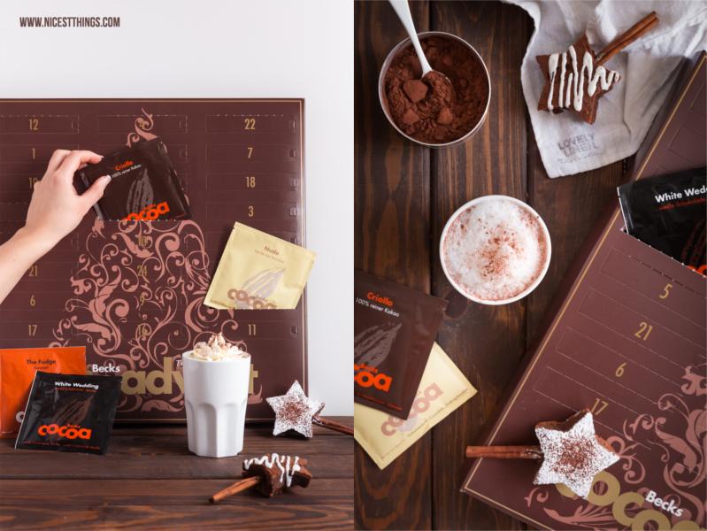 beckscocoa Adventskalender Trinkschokolade Kakao