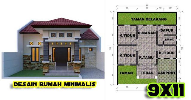 Desain Rumah Minimalis 2020 Ukuran 9x11 - DESAIN RUMAH MINIMALIS