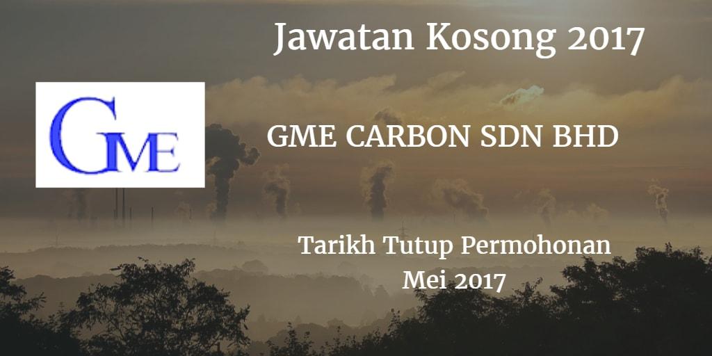 Jawatan Kosong GME CARBON SDN BHD Mei 2017