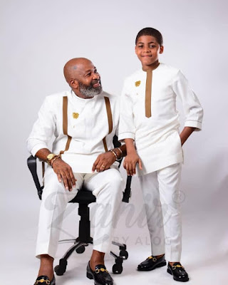 Yemi Solade and son