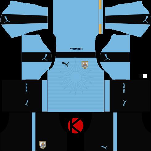 Uruguay Kits 2017 -  Dream League Soccer