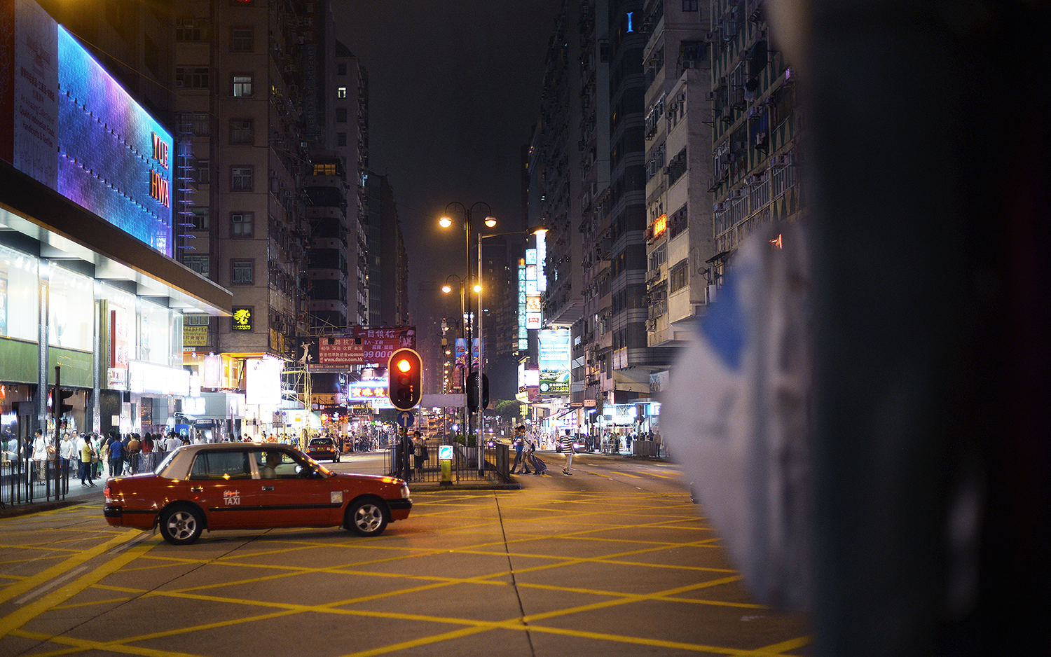 Hong Kong Taxi Intersection - Hong Kong, China | Night / FOREVERVANNY.com