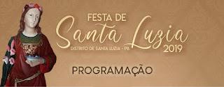 Em Picuí, distrito de Santa Luzia do Seridó viverá festividades da padroeira. Confira programação