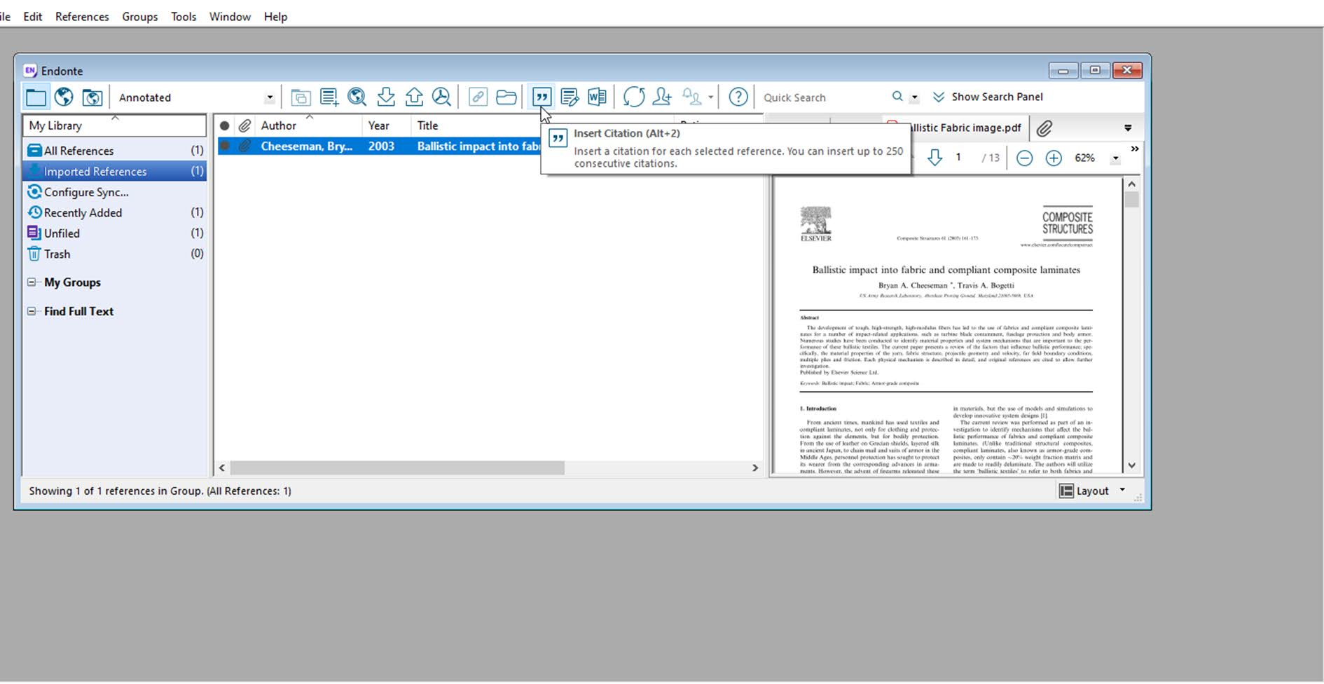 8. Reference Management by using EndNote