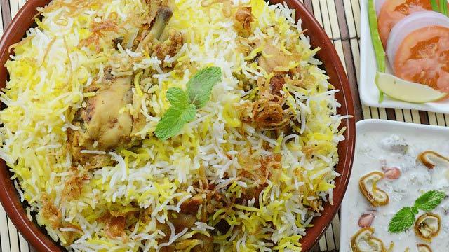 lucknow Awadhi food. Kebabs, Biryani, Korma