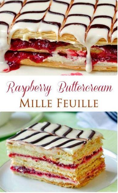 Raspberry Buttercream Milles Feuilles