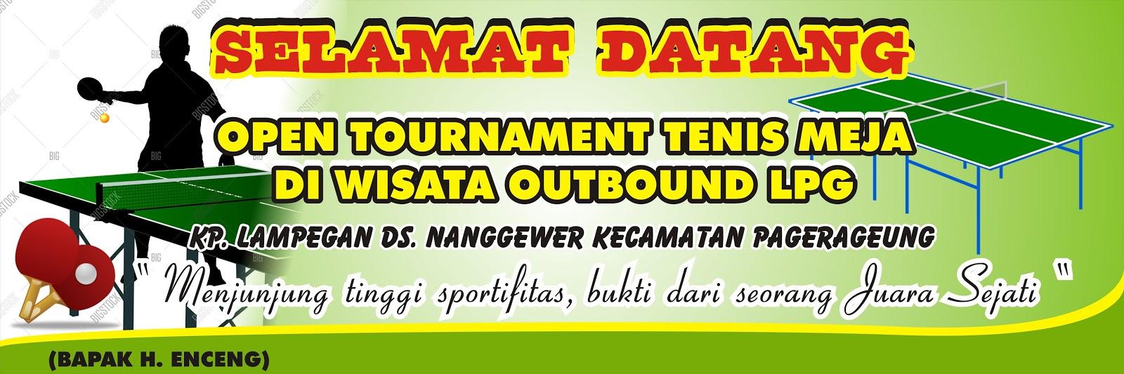 Spanduk Kegiatan Lomba Olahraga Tenis Meja Cdr