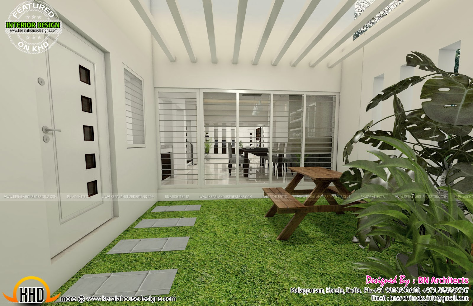 kerala home design courtyard ideasidea all in one house elevation floor plan and interiors kerala courtyard house plans kerala internal internal