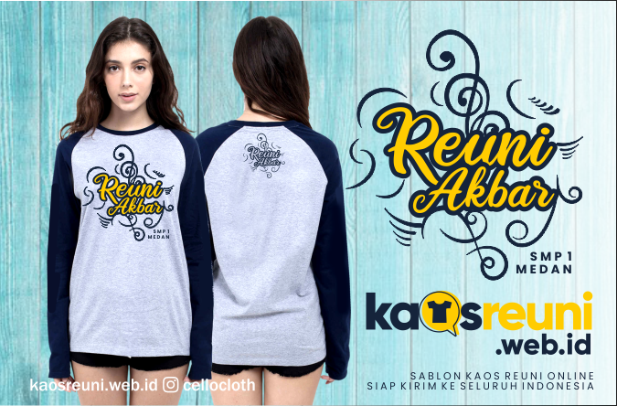 Desain Sablon Kaos Reuni Akbar SMP 1 Medan - Kaos Reuni