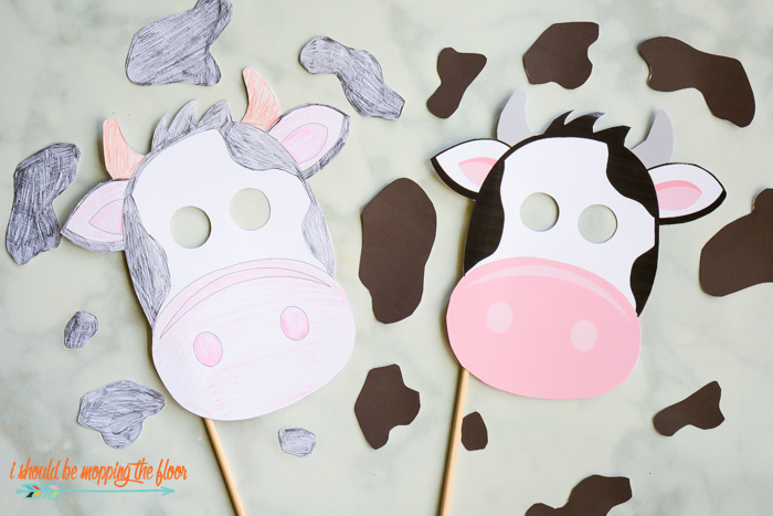 picture about Cow Appreciation Day Printable Costume called Absolutely free Printable Cow Mask and Places i really should be mopping the