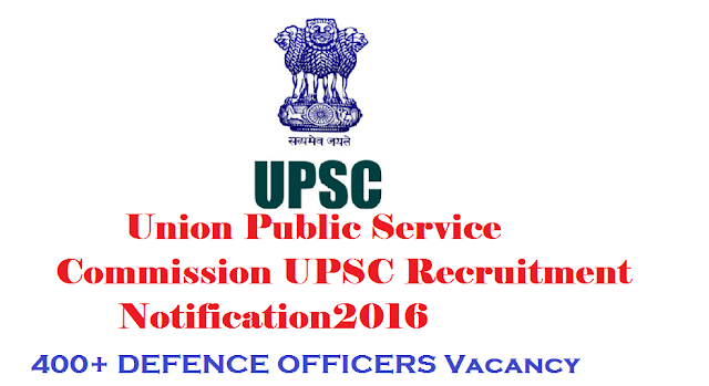 "UPSC Recruitment Notification 2016 – 400+ DEFENCE OFFICERS Vacancy Across India – 10th, 12th, Diploma, ITI, Engg, Grad Can Apply|union pulic service commission Recruitment Notification and information like eligibility criteria, salary, Total vacancy, Selection Procedure, Job description, last date, Application procedure and other key information required|Key Highlight About the Recruitment Notification of UPSC| Combined Defence Services Examination (II) On 16 July 2016, Union Public Service Commission (UPSC) has come up with a recruitment notification to recruit for "" Combined Defence Services Examination (II) "" post. Through this recruitment notification, Union Public Service Commission (UPSC) Desires to hire candidates who have completed M.A/Any Graduation for the post of "" Combined Defence Services Examination (II) "". Union Public Service Commission (UPSC) is planning to recruit 413 candidates for the post of "" Combined Defence Services Examination (II) "". Interested and eligible candidates can apply before 12/08/2016. Union Public Service Commission (UPSC) proposes to receive the application from applicants in Offline Mode. Eligible candidates can submit their application to Union Public Service Commission (UPSC) before the 12/08/2016. All those aspiring to apply can check out various information like eligibility criteria, salary, Total vacancy, Selection Procedure, Job description, last date, Application procedure and other key information required for the post below. Kindly go through all the below details before submitting your application Offline/2016/08/upsc-recruitment-notification-2016-400-combined-defence-officers-vacancy-information-and-key-highlights.html"