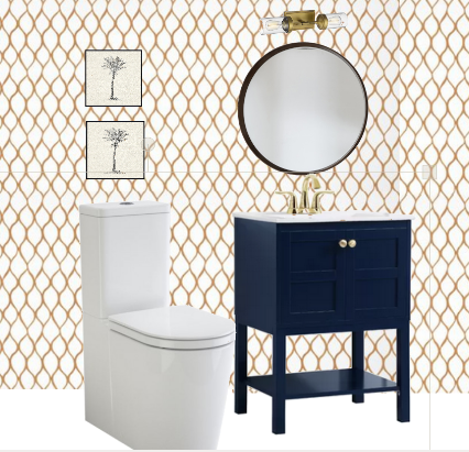 One Room Challenge Powder Room Moodboard