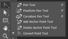 Pen dan Point Tool Toolbox Adobe Photoshop