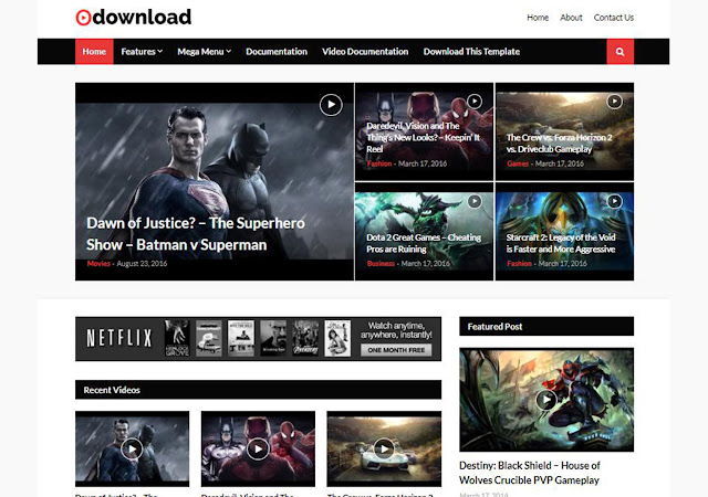 video download free blogger template, movie blogger template, blogger theme for video website, video website premium theme, templates go