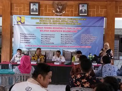 Serah Terima Pekerjaan Pelaksanaan P3-TGAI Kabupaten Bojonegoro Tahun Anggaran 2018