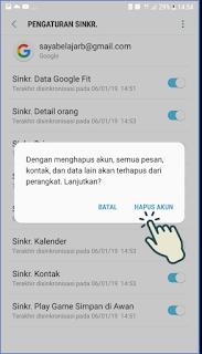 Cara Keluar akun Gmail di Android 8