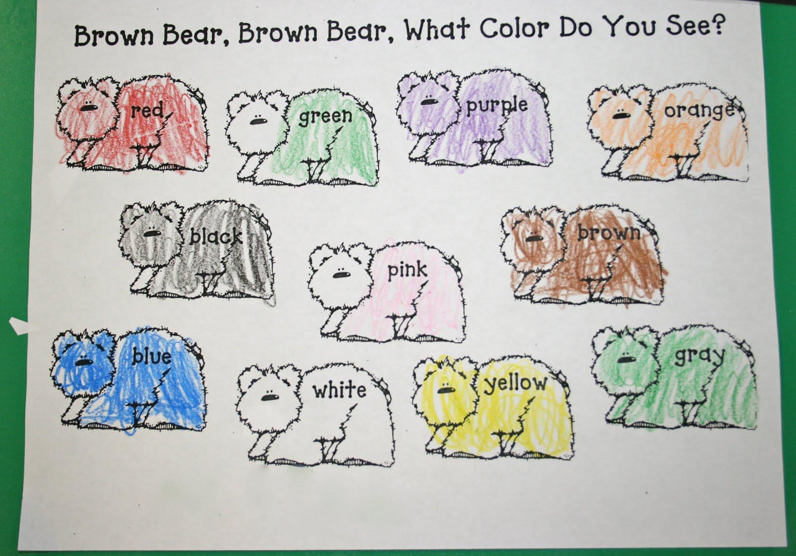 Mrs Mayas Kindergarten Brown Bear Activities Amp Center Fun