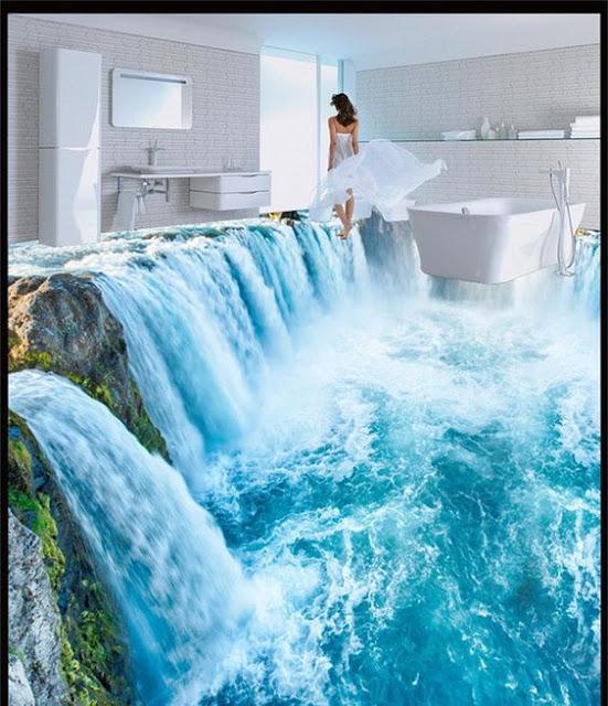 Sàn 3D thác nước