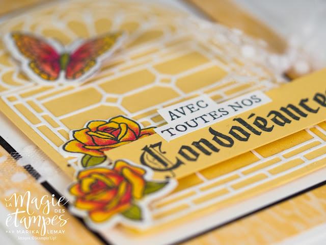 Carte de condoléances Stampin' Up! faite avec le jeu d'étampes Vitrail