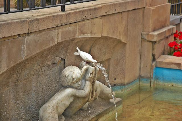 fontanny w centrum miasta Murcja, Hiszpania
