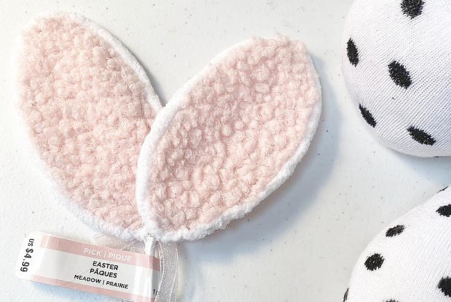 pink fleece bunny ears and socks