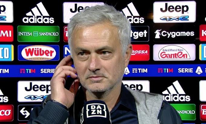 """Mourinho dopo la dura sconfitta in Conference League: """"Colpa mia"""""""