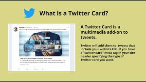 WHAT IS TWITTER CARD
