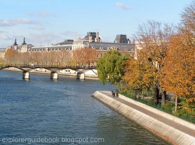 Louvre pont des arts ile de la cite