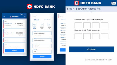 Finally, Set HDFC quick access PIN