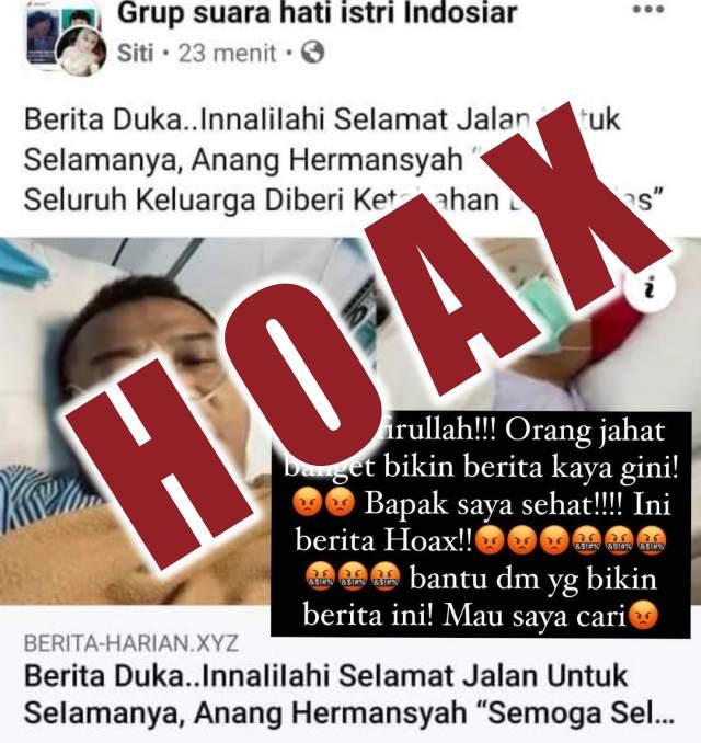 Anang Hermansyah meninggal HOAX
