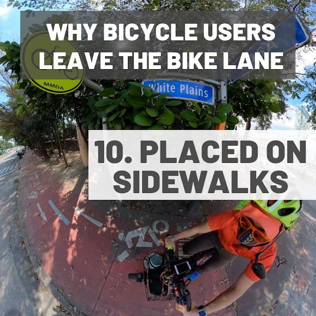 Bike lanes placed on sidewalks